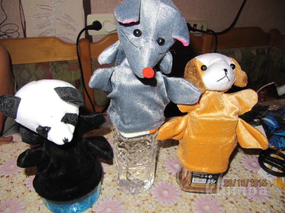 Игрушки на руку, кукольный театр панда фото №1