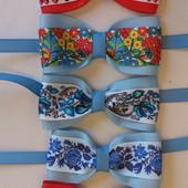 Галстуки-бабочки в украинском стиле для мальчика