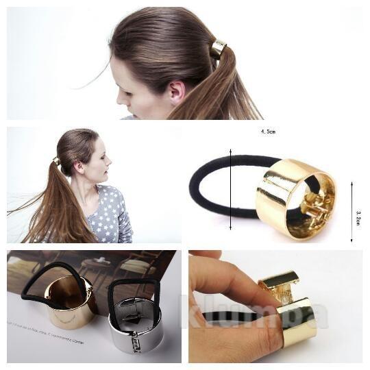 93daf742a452 модная металлическая резинка заколка зажим для волос браслет