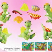 Динозавр с одежками W2804