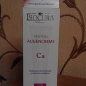 Укрепляющий антивозрастной крем под глаза Biocura с кальцием