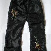Теплые зимние брюки с начесом рост 128-134