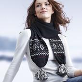 Шерстяной вязаный шарф Tchibo Германия
