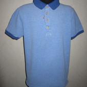 На 9-10 лет Стильная футболка поло Marks&Spencer мальчику