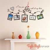 Виниловые наклейки на стену, наклейки на стену под фотографии, фоторамку на стену