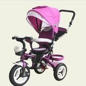 Трехколесный велосипед коляска Super Traike Vip Air Супер трайк поворотное сиденье, надувные колеса