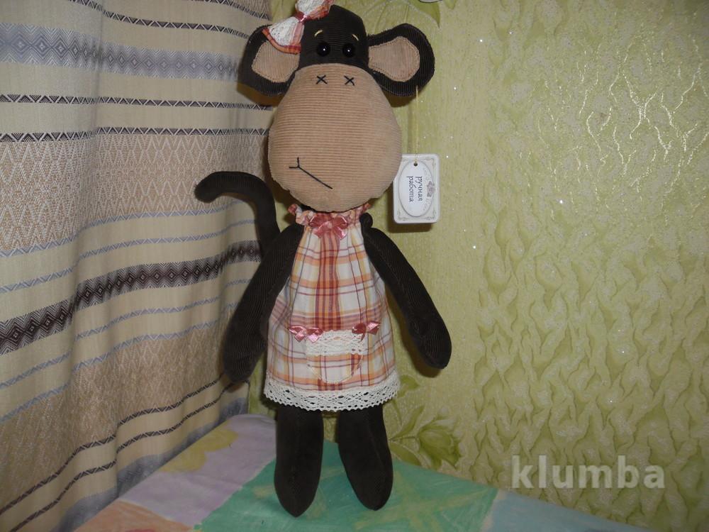Мягкая игрушка обезьянка фото №1