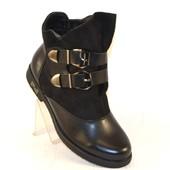 Женские ботиночки ремешки 1064