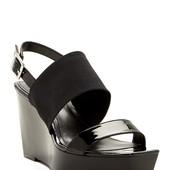 Calvin Klein Босоножки на танкетке с резинкой черные бренд оригинал из США р36