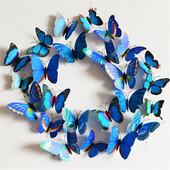 Бабочки наклейки на стену или холодильник, голубые, салатовые,оранж и розово-фиолетовые на выбор.