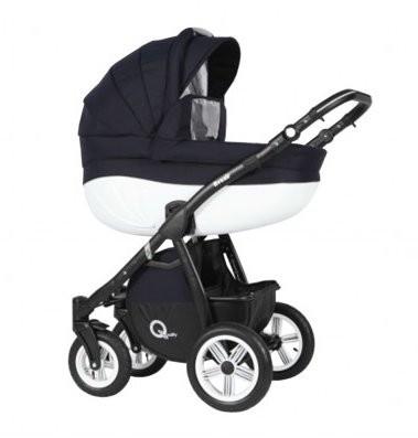 Универсальная коляска 2 в 1 babyhit retrus avenir 54 q-line 2 white black (23-077) фото №1