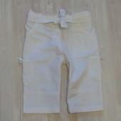 Белоснежные льняные шортики George для девочки, размер 2-3 года, состояние новой вещи, не ношенные.