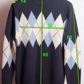 Синий свитер, р.L