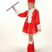 Карнавальный костюм Гвардеец девочка, S/M/L рубашка/юбка/гол.убор/гамаши