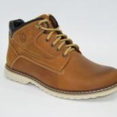 Мужские кожаные ботинки, зима