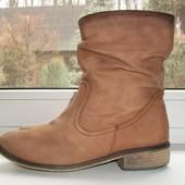 Сапоги ботинки Next нубук р. 38 стелька 24.5 см демисезонные