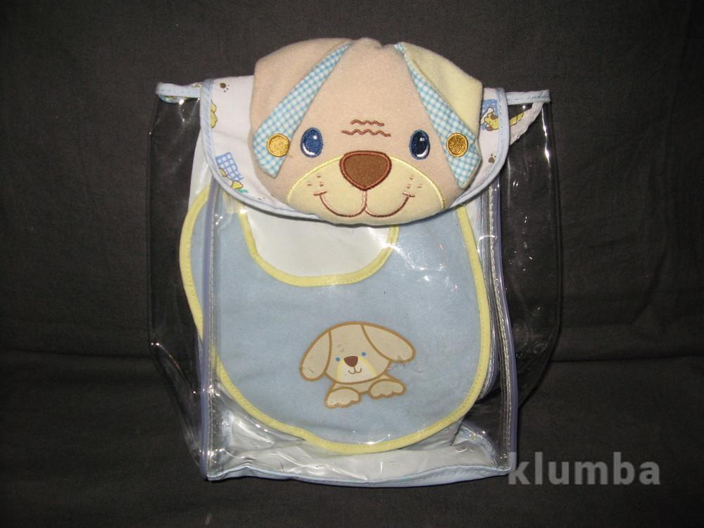 Набор для куклы рюкзачок и слюнявчик фото №1