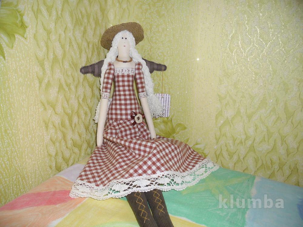 Кукла тильда в шляпке фото №1