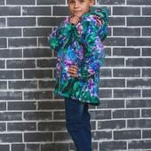 Стильная курточка для девочки Цветы 126