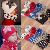 Детский комплект шапка+хомут