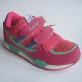 Скидка! Распродажа! Детские кроссовки для девочки, стелька кожаная с супинатором, р. 27-32. код 164