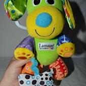 Lamaze Развивающая игрушка Подвеска Собачка Щенок с косточкой от рождения Ламазе