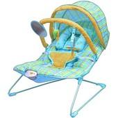 Шезлонг качалка Бемби 6692 детский с вибро режимом Bambi кресло