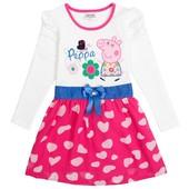 Платье с Пеппой в сердечки (розовое) TM Nova.
