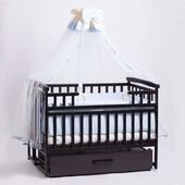 Детская кроватка Детский Сон с маятником и ящиком венге
