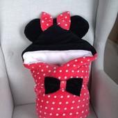 Конверт-одеяло для новорожденного Минни Маус