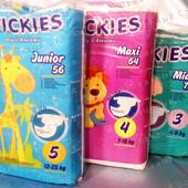 Качественные подгузники Wickies Викис, 5-й размер, Супер вместительные памперсы