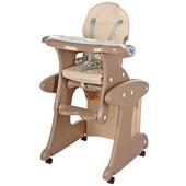 Бемби 3267 стульчик для кормления трансформер Bambi столик 2 в 1 высокий