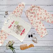 Пижама костюмчик на 1 3 месяца для девочки, костюм 56 62 размер, Турция, отличнейшее качество