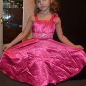 Платье нарядное шелковое