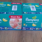Pampers Active Baby Dry Giant Box 4,5 размер, 470 грн.