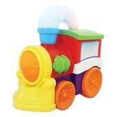 Развивающая игрушка -Музыкальный паровоз (на колесах, свет, звук)