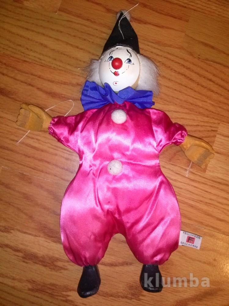 Деревянный клоун фото №1