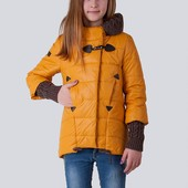 Детская демисезонная модная куртка для девочки Луиза! Лидер продаж Хит Размеры 128-158