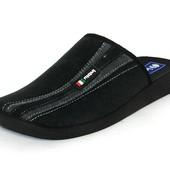100 E3 014   Мужские домашние тапочки Бренд Inblu Материал - велюр Цвет - черный