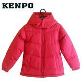 Пуховик детский красный с капюшоном на 6-7 лет, Kenpo Америка