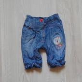 Стильные джинсики Next для маленькой принцессы, внутри на котоновой подкладке, размер до 1 месяца