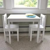 В наличии десткий квадратный стол, стулья, 3 цвета, Kritter, Криттер, Икеа, ikea