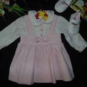 Нарядное платье Fagottino на 3 мес,рост 68 см.Мега выбор обуви и одежды!