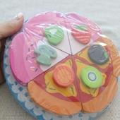Деревянная игрушка на магните тортик, пицца