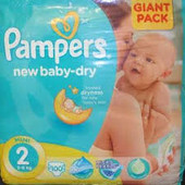 Pampers New Baby Mini №2 (3-6 кг) 100 шт