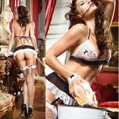 Комплект «Горничная» / Эротическое белье / Сексуальное белье / Еротична білизна