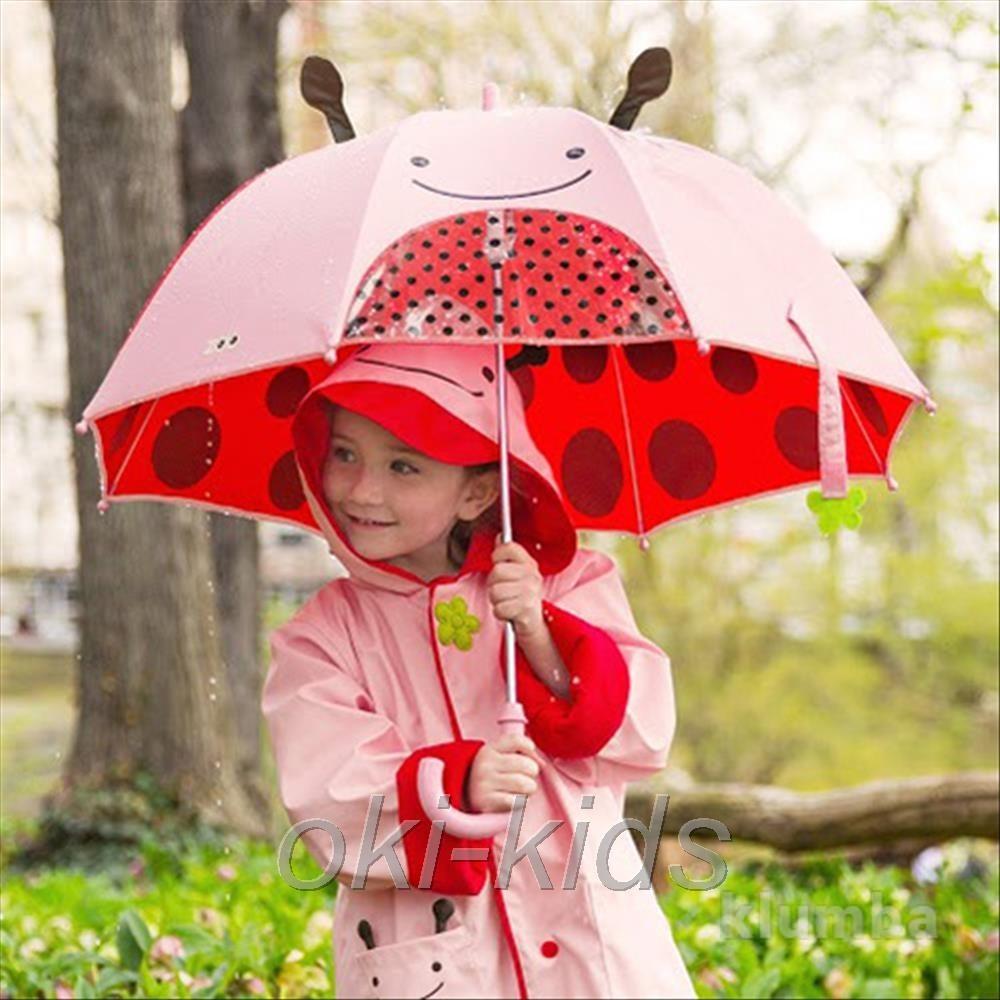 Детский зонтик skip hop zoo. божья коровка. в наличbи. фото №1