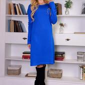 Теплое, вязаное платье! Разные цвета! Супер цена! Размер 42-48