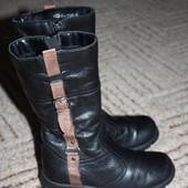 Зимние ,кожаные сапожки с начесом.Размер 28