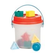 Развивающая игрушка -сортер Цветное ведерце (8 форм)